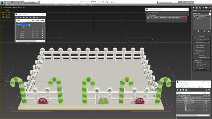 Cookie Dough Fence 3d Model 19 Max Obj Ma Fbx C4d Blend 3ds Free3d