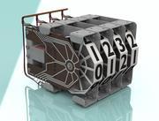Семь деталей машин для пинбола 3d model