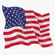 Animação da bandeira dos EUA 3d model