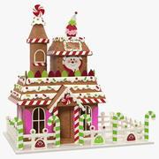 Weihnachts Lebkuchenhaus 3d model