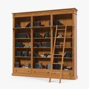Libreria libreria in legno con libri 3d model