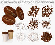 Coffee beans collection 3d model