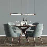 Modern Dinning Set 2 3d model