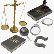 法庭和监狱设备 3d model