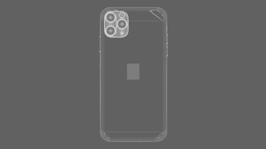 iPhone 11 Pro royalty-free 3d model - Preview no. 9