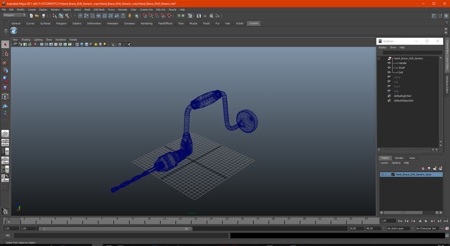 Hand Brace Drill Generic royalty-free 3d model - Preview no. 22