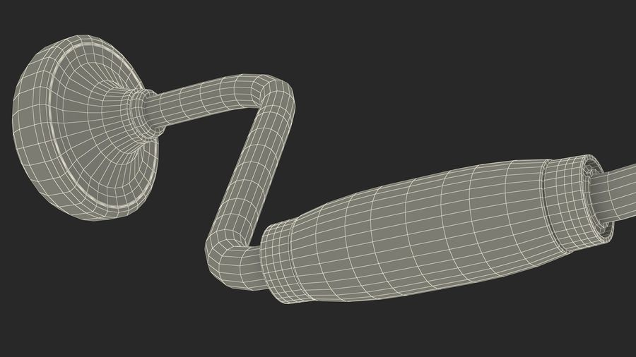 Hand Brace Drill Generic royalty-free 3d model - Preview no. 28