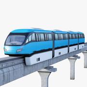 单轨火车 3d model