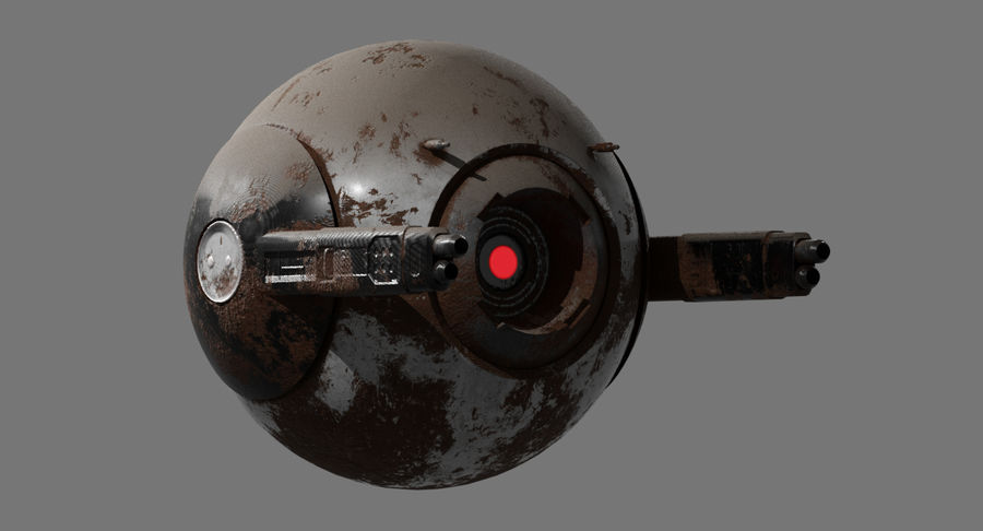 Fighter Drone royalty-free 3d model - Preview no. 5