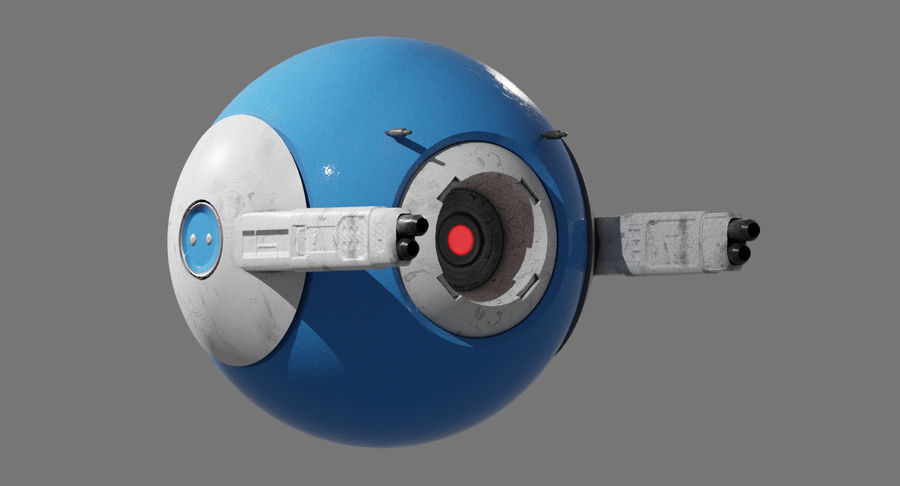Fighter Drone royalty-free 3d model - Preview no. 6