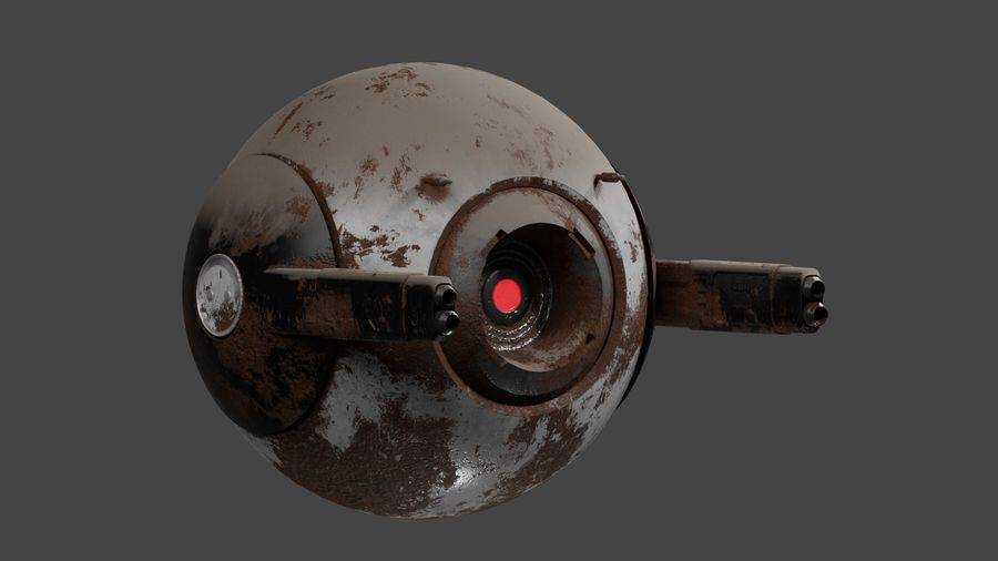 Fighter Drone royalty-free 3d model - Preview no. 11