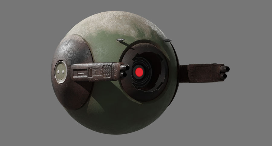 Fighter Drone royalty-free 3d model - Preview no. 7