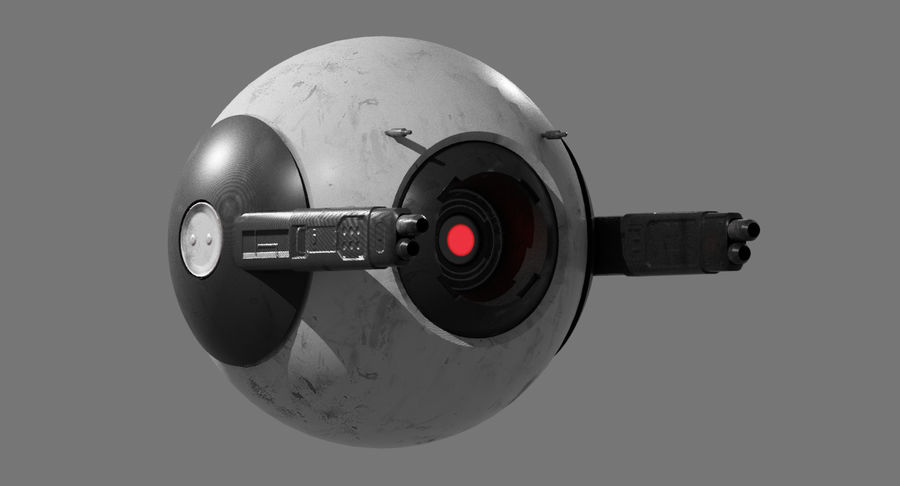 Fighter Drone royalty-free 3d model - Preview no. 3
