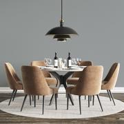 Modern Dinning Set 04 3d model