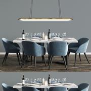 Modern Dinning Set 5 3d model