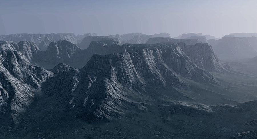 Meseta montañas p2 royalty-free modelo 3d - Preview no. 1