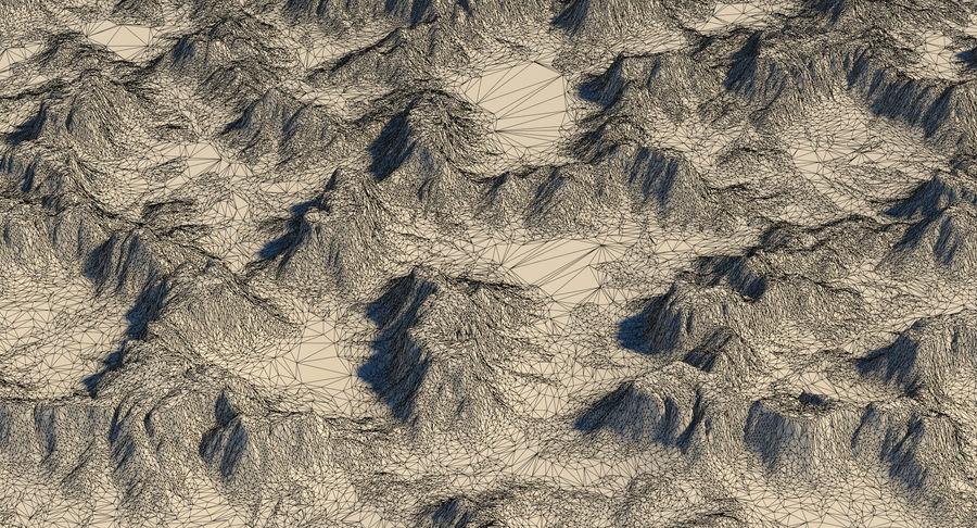 Meseta montañas p2 royalty-free modelo 3d - Preview no. 11