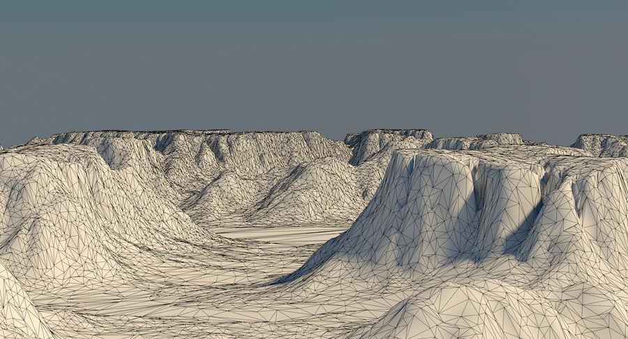 Meseta montañas p2 royalty-free modelo 3d - Preview no. 12