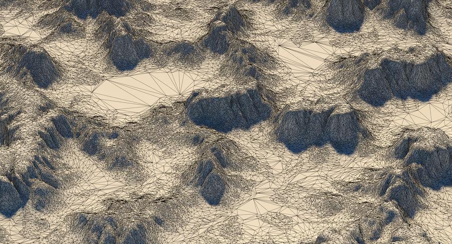 Meseta montañas p2 royalty-free modelo 3d - Preview no. 10