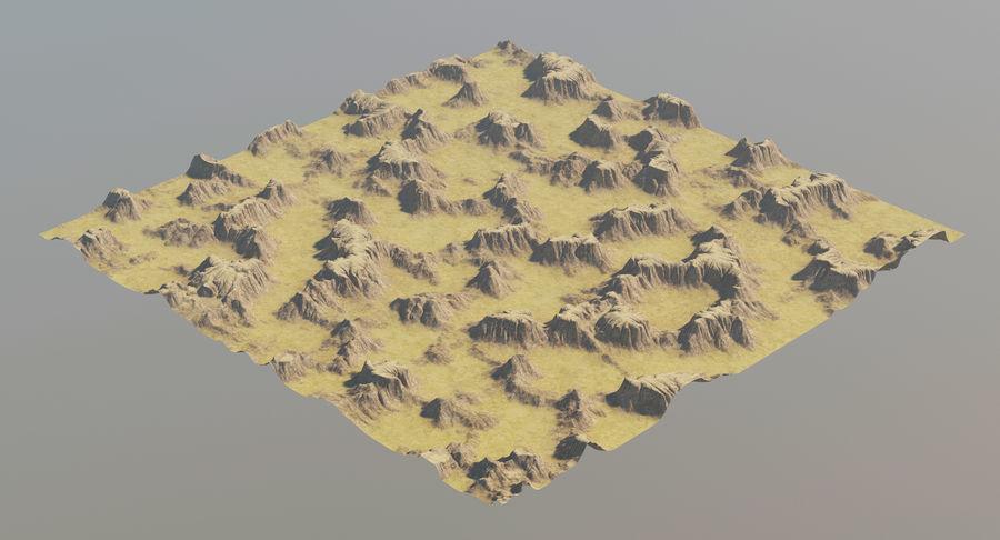 Meseta montañas p2 royalty-free modelo 3d - Preview no. 7