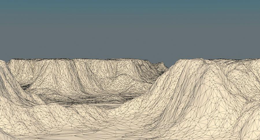 Meseta montañas p2 royalty-free modelo 3d - Preview no. 13