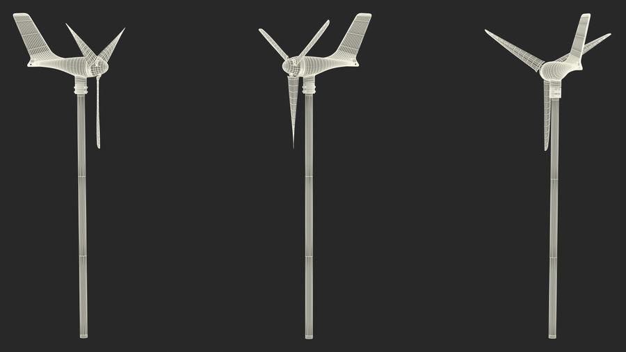 Silentwind 400 Marine Windgenerator royalty-free 3d model - Preview no. 20