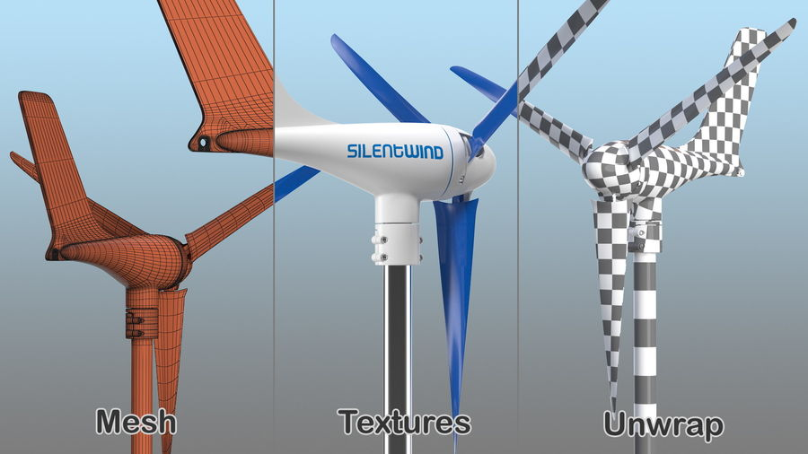 Silentwind 400 Marine Windgenerator royalty-free 3d model - Preview no. 7
