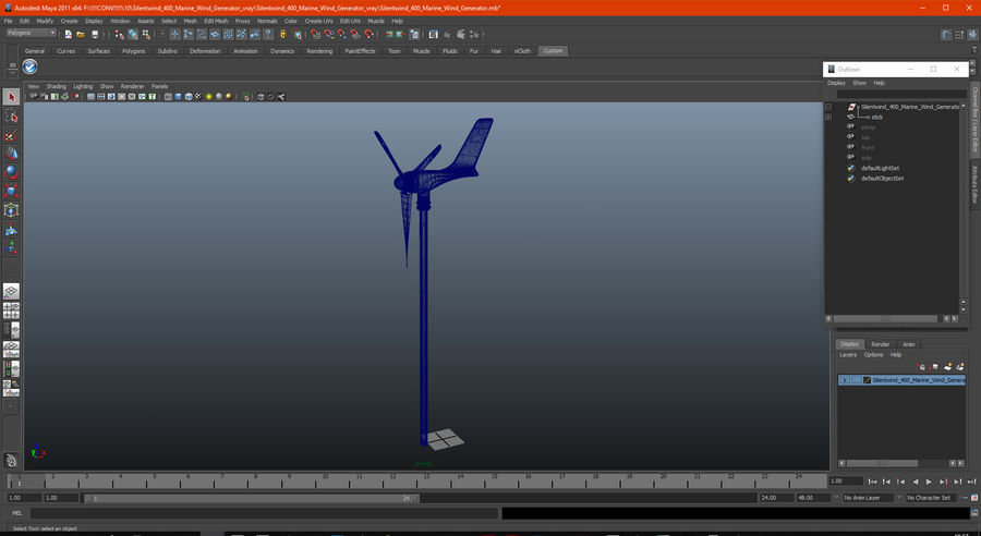 Silentwind 400 Marine Windgenerator royalty-free 3d model - Preview no. 18