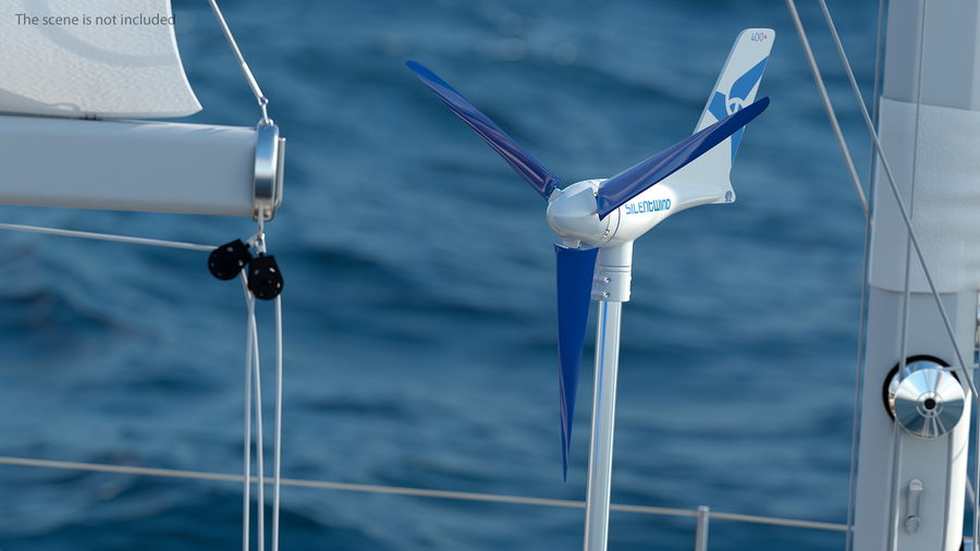 Silentwind 400 Marine Windgenerator royalty-free 3d model - Preview no. 2