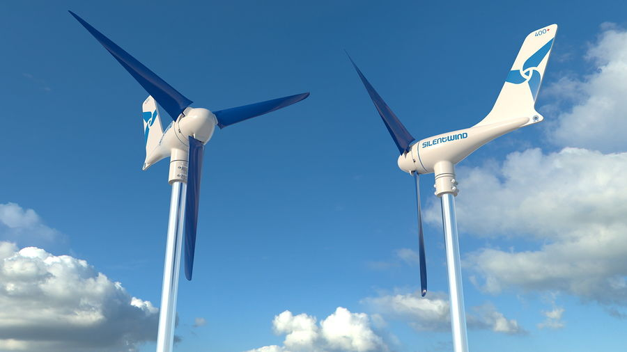 Silentwind 400 Marine Windgenerator royalty-free 3d model - Preview no. 4