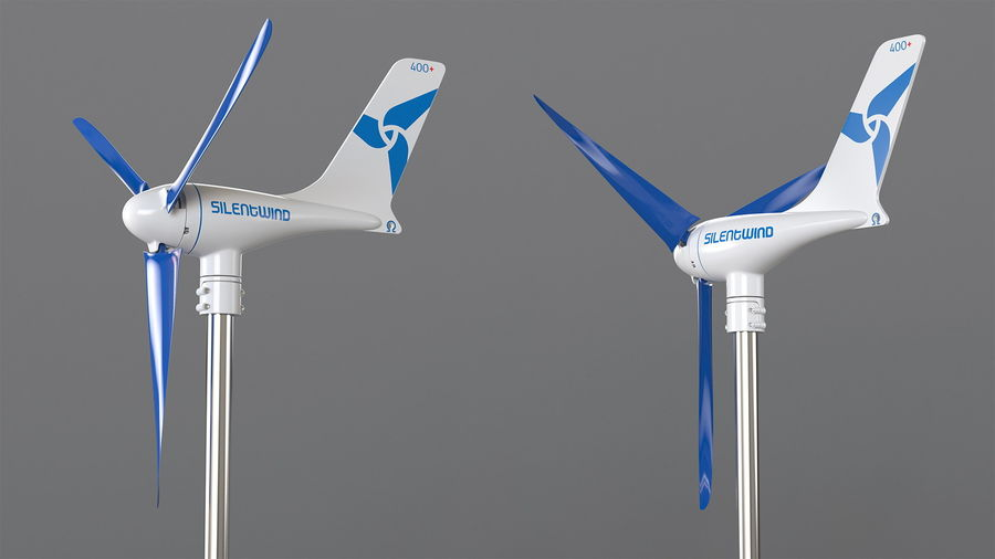 Silentwind 400 Marine Windgenerator royalty-free 3d model - Preview no. 5