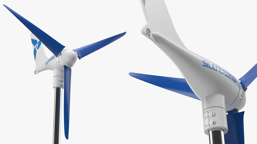 Silentwind 400 Marine Windgenerator royalty-free 3d model - Preview no. 9