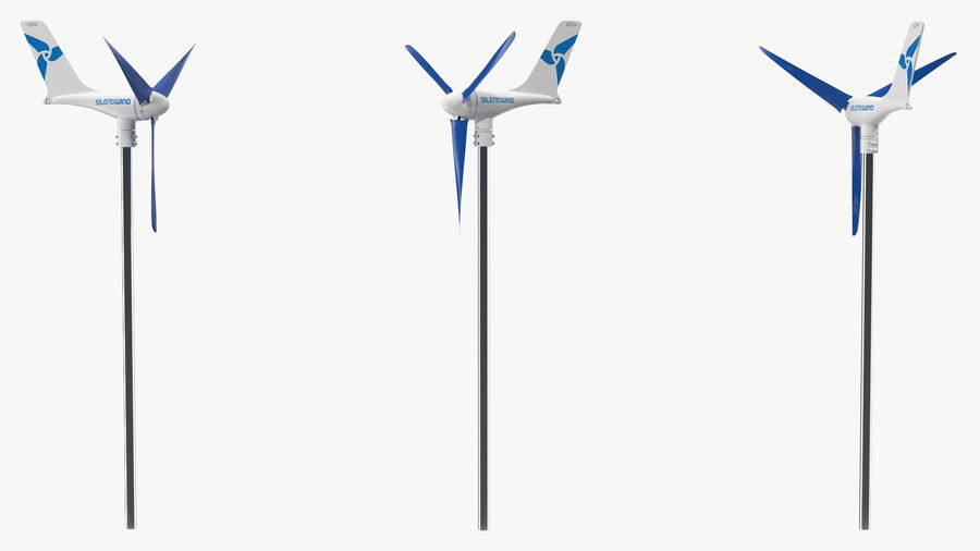 Silentwind 400 Marine Windgenerator royalty-free 3d model - Preview no. 6