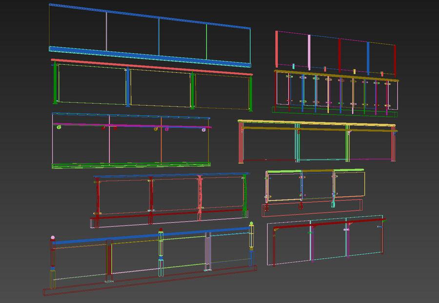 clôture royalty-free 3d model - Preview no. 4