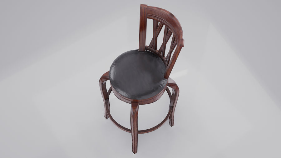 Bar Chair royalty-free 3d model - Preview no. 6