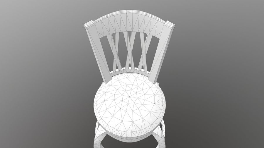바 의자 royalty-free 3d model - Preview no. 14