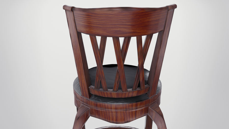 Bar Chair royalty-free 3d model - Preview no. 10