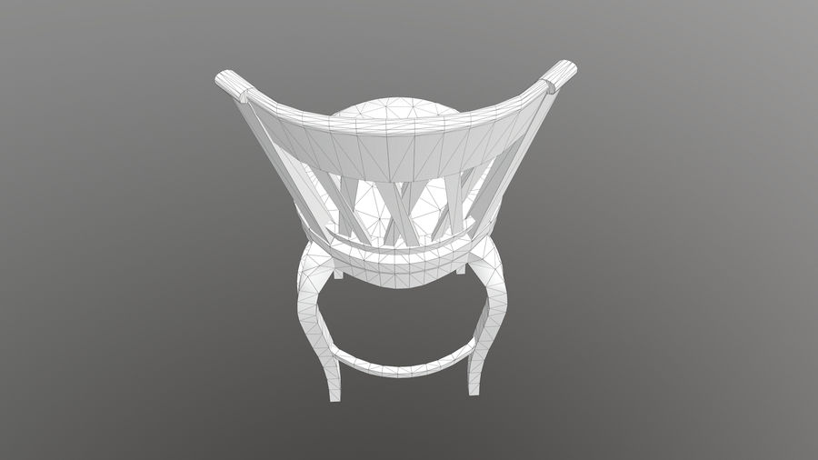 Bar Chair royalty-free 3d model - Preview no. 13