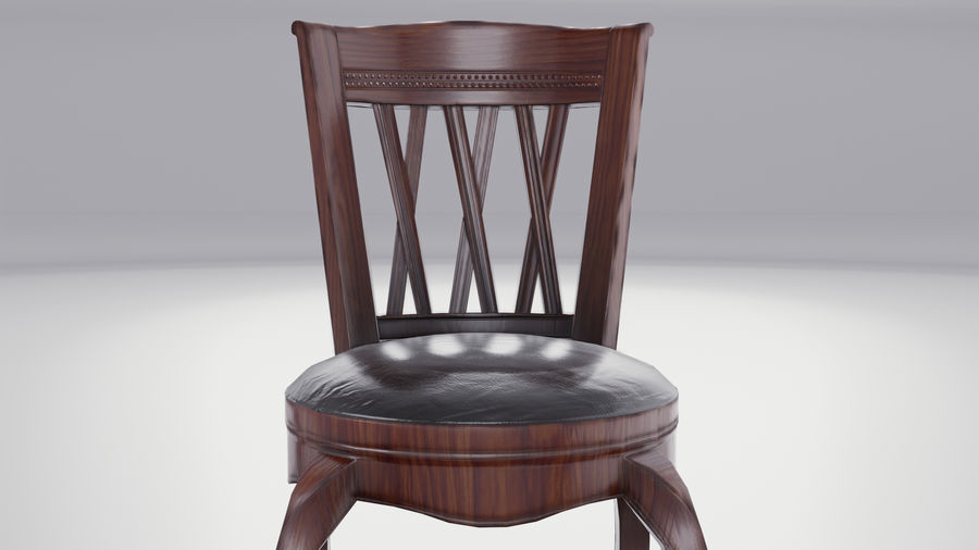 Bar Chair royalty-free 3d model - Preview no. 7