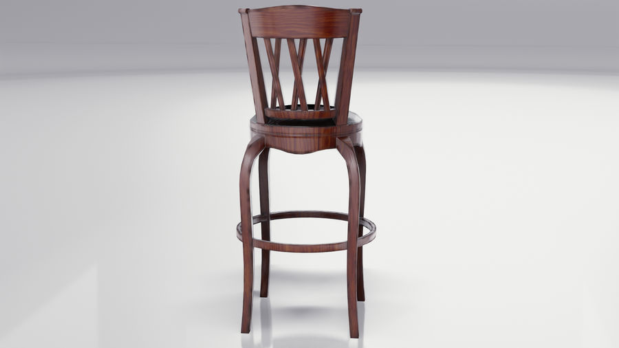 Bar Chair royalty-free 3d model - Preview no. 5