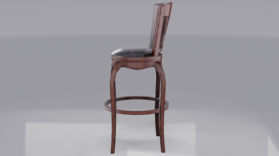 Bar Chair royalty-free 3d model - Preview no. 4