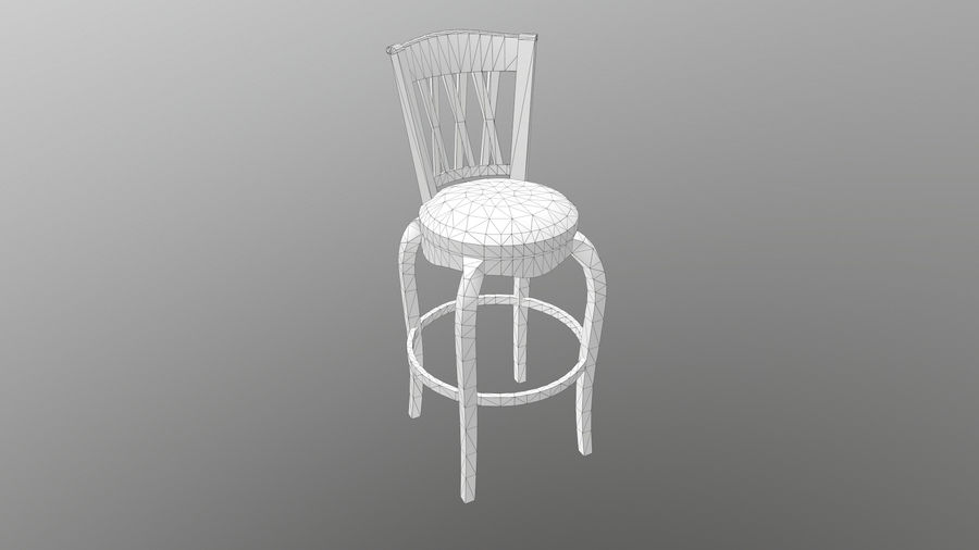 Bar Chair royalty-free 3d model - Preview no. 11