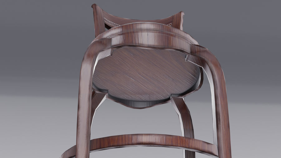 Bar Chair royalty-free 3d model - Preview no. 9