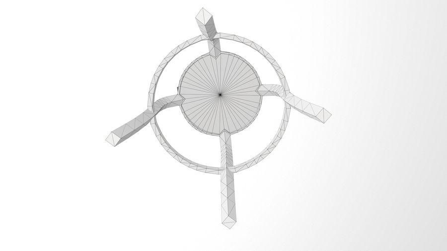 바 의자 royalty-free 3d model - Preview no. 15