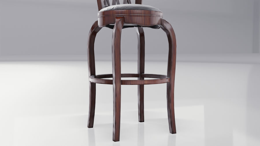 Bar Chair royalty-free 3d model - Preview no. 8