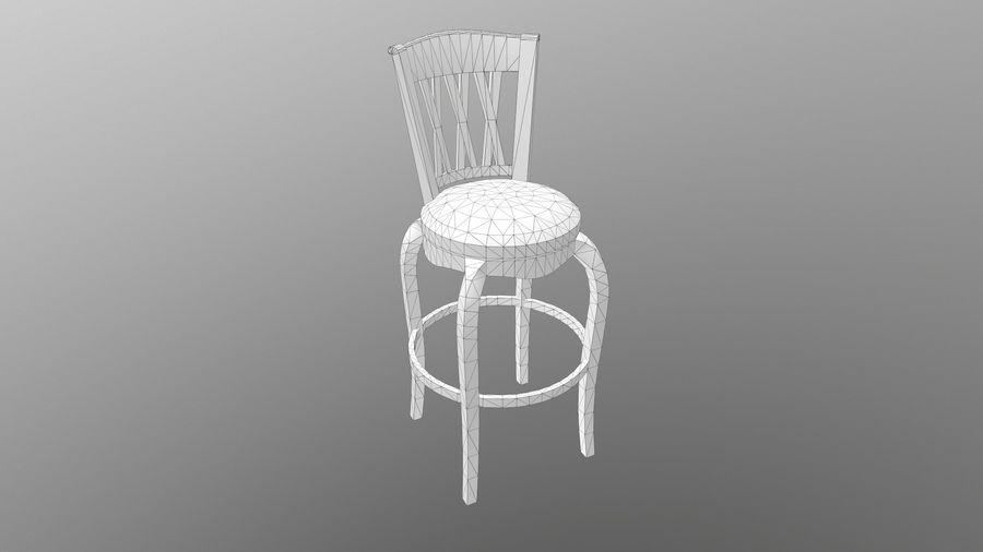 바 의자 royalty-free 3d model - Preview no. 11