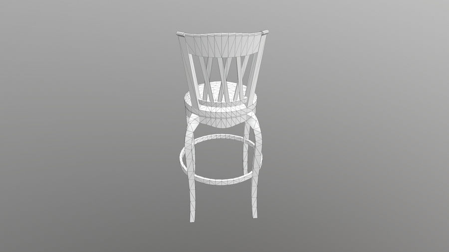 Bar Chair royalty-free 3d model - Preview no. 12