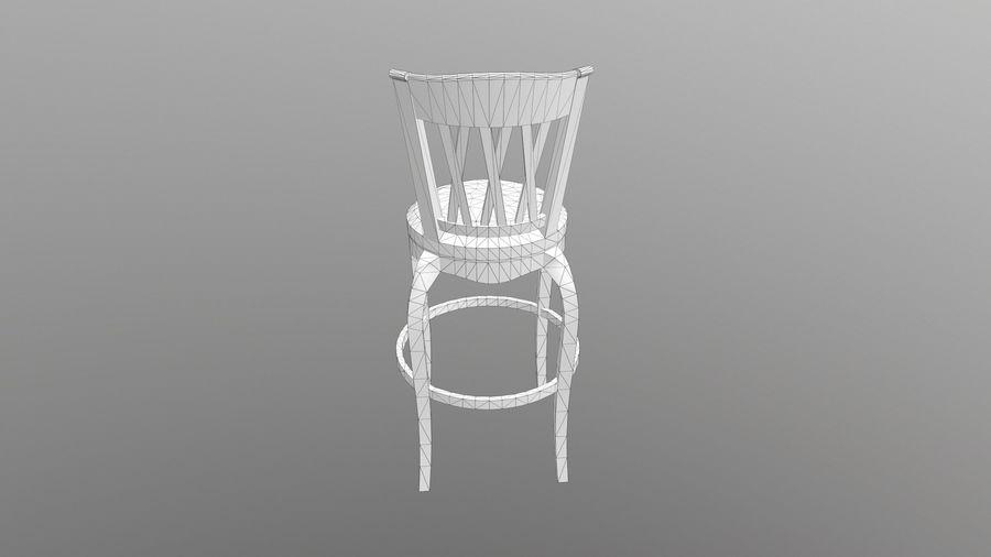 바 의자 royalty-free 3d model - Preview no. 12
