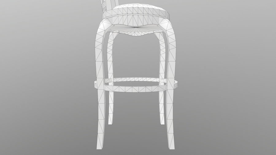 Bar Chair royalty-free 3d model - Preview no. 16