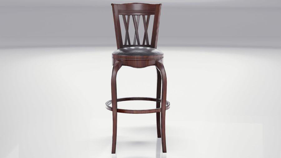 바 의자 royalty-free 3d model - Preview no. 3
